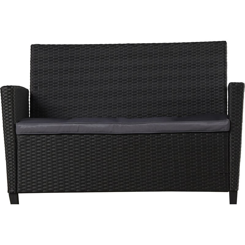 Feltonville 4 Piece Rattan Sofa Seating Group With Cushions