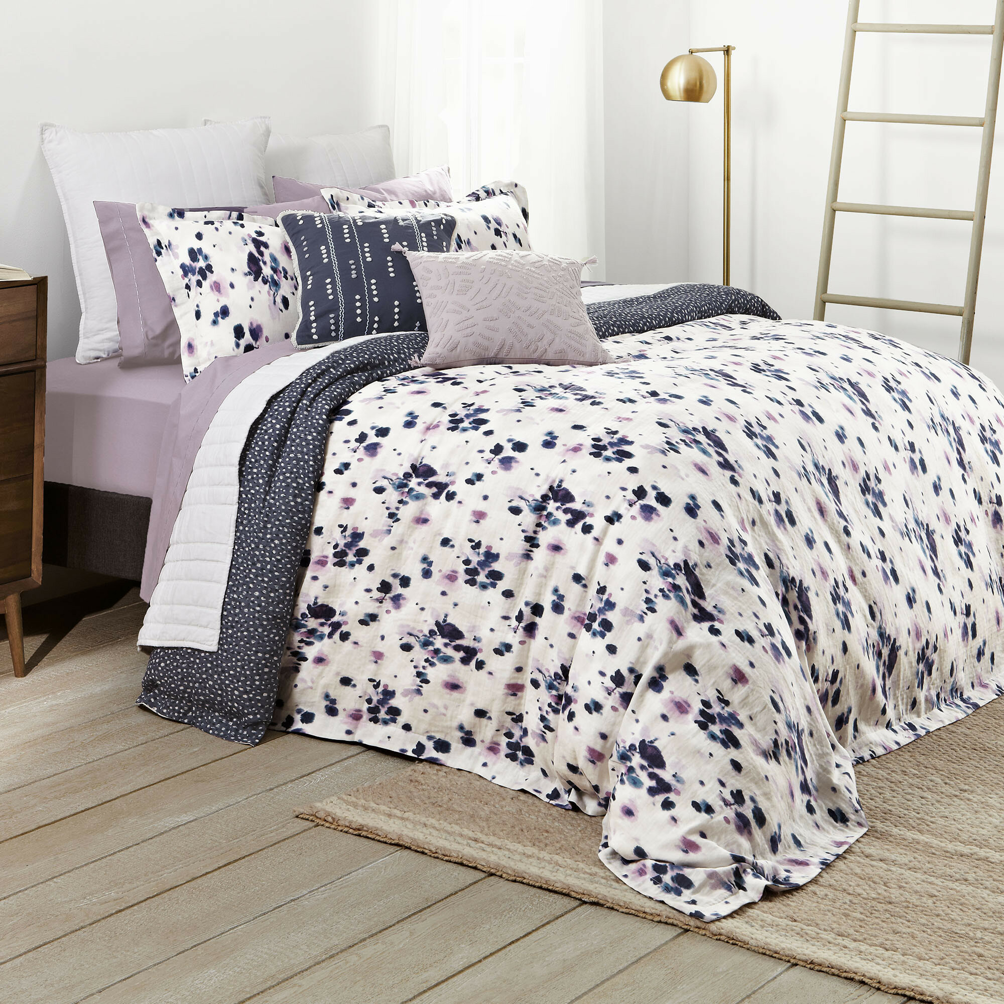 Splendid Home Alpine Comforter Set King White
