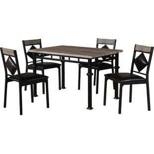Canas 5 Piece Dining Set Red Barrel Studio