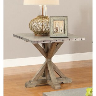 Midkiff Industrial Rustic End Table by Gracie Oaks