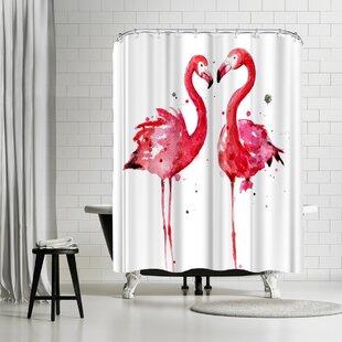 Sam Nagel Flamingos Single Shower Curtain