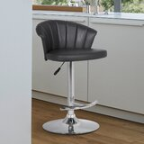 Jove Swivel Adjustable Height Bar Stool by Ebern Designs