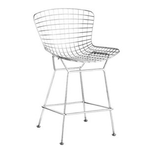 Reviews Berkowitz Wire 24 Bar Stool (Set of 2) by Ivy Bronx Reviews (2019) & Buyer's Guide