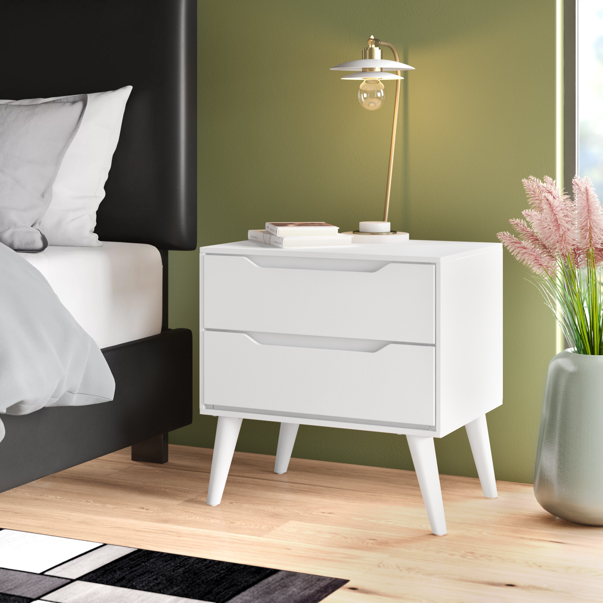 Aubree 2 Drawer Nightstand Reviews Allmodern