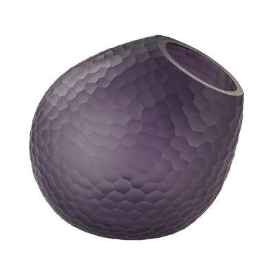 Brayden Studio Mclemore Cut Glass Vase Color: Purple