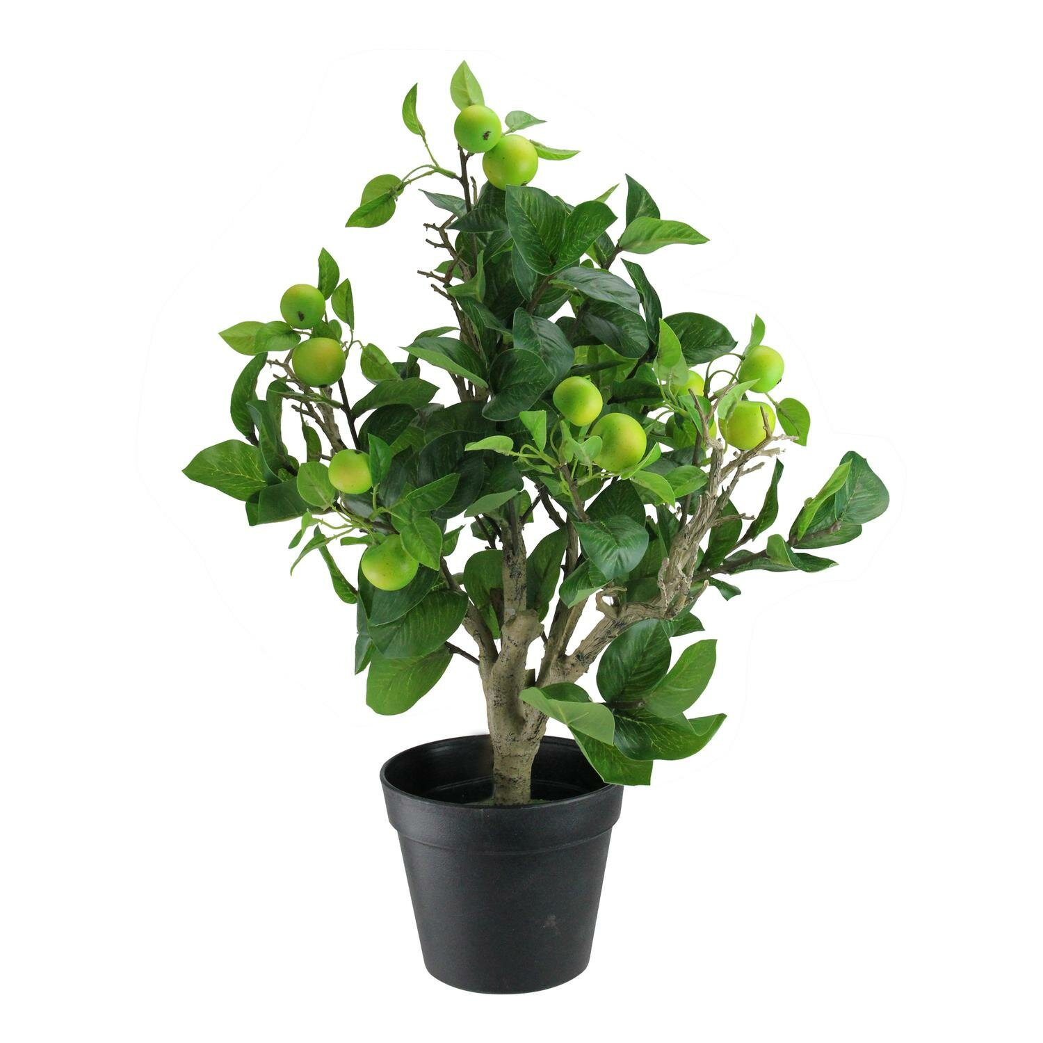 Northlight 23 Artificial Potted Bonsai Style Decorative Green Apple Tree Wayfair