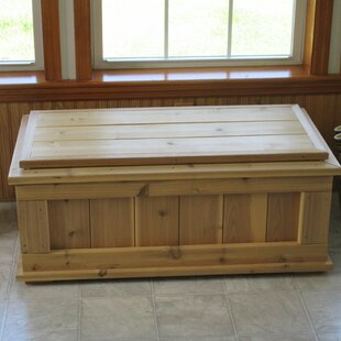 August Grove Guillaume Premium Quality Indoor/Outdoor Cedar Storage Bench