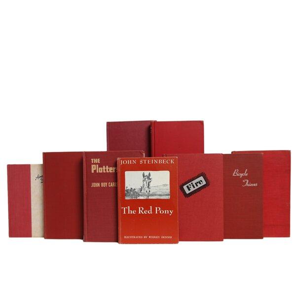 Red Decorative Books Wayfair