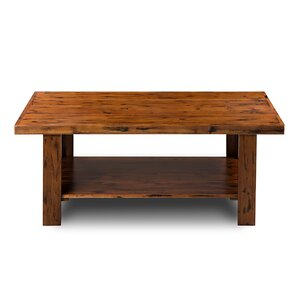 Manteca Solid Wood Coffee Table with Magazin..