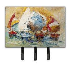 Buzzards Sailboat Race Leash Holder and Key Hook by Caroline's Treasures