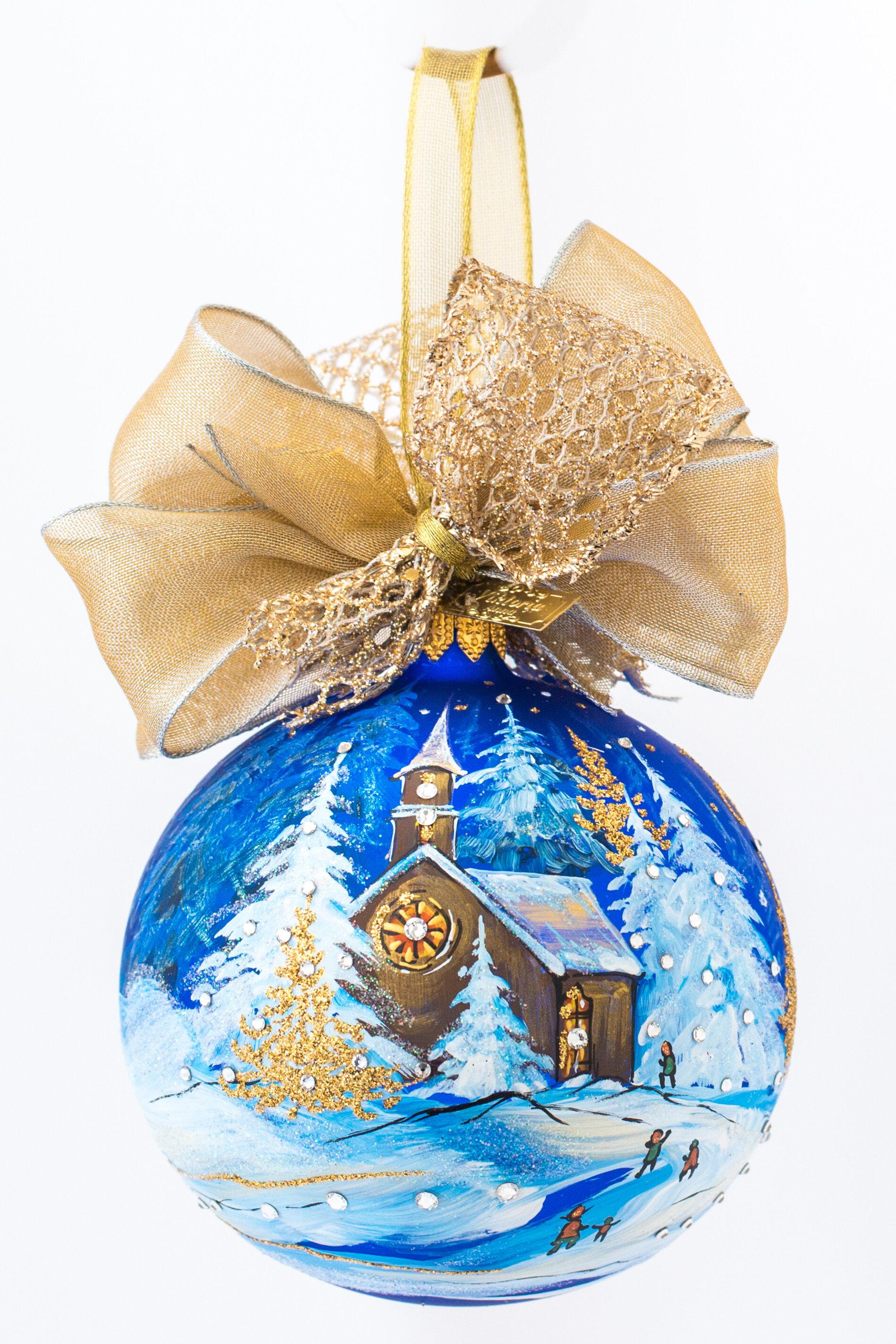 The Holiday Aisle Winter Church Ball Ornament Wayfair