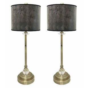 Pisano Crystal 28 Buffet Lamp (Set Of 2) by Latitude Run Today Only Sale