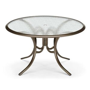 Glass Tables Round Ogee Rim Aluminum Dining Table