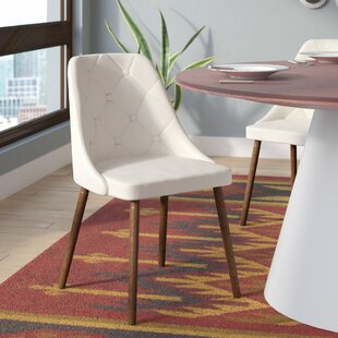Baize Upholstered Side Chair by Mercury Row Today Sale Only