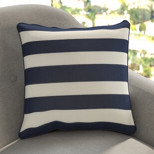 Yahya Striped Square Cotton Throw Pillow