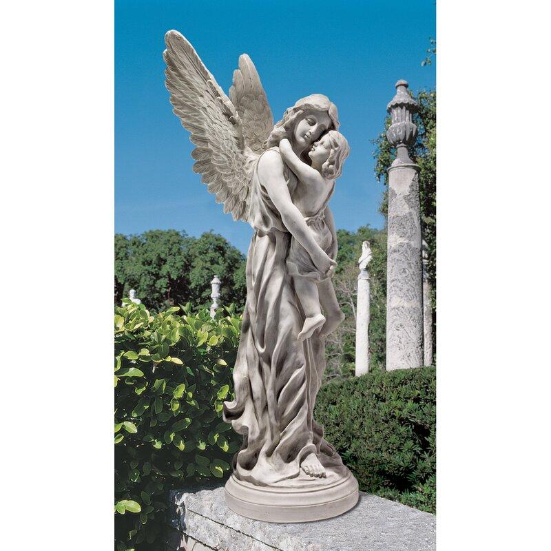 Design Toscano Heaven S Guardian Angel Garden Statue Reviews Wayfair