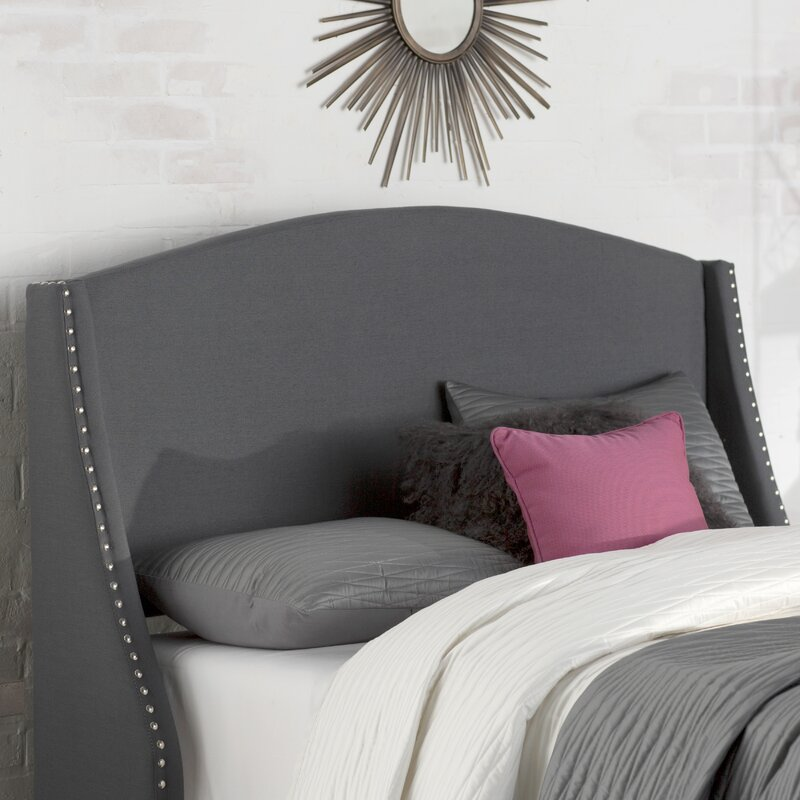 Alcott Hill Drumagorgan Upholstered Wingback Headboard