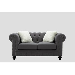 Howie Chesterfield Loveseat by Alcott Hill