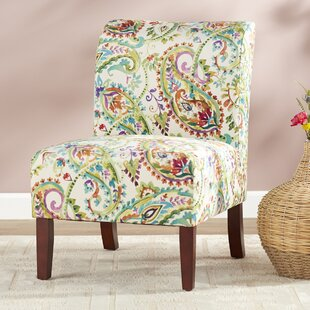 Willimantic Cottage-Chic Curved Back Slipper Chair Charlton Home