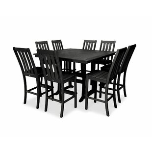 Vineyard Nautical Trestle 9 Piece Bar Height Dining Set