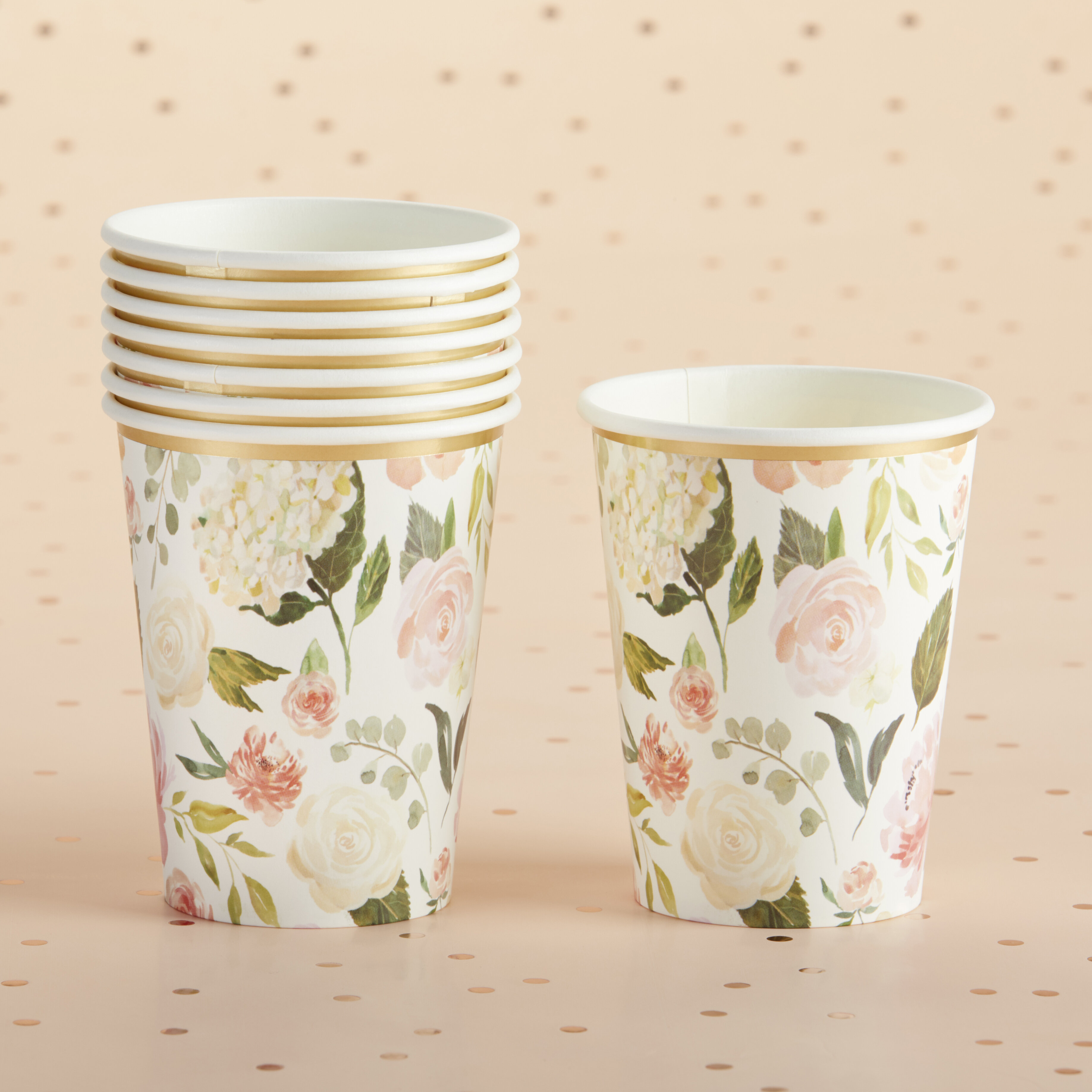 Kate Aspen Floral 14 Oz Paper Disposable Every Day Cup Wayfair