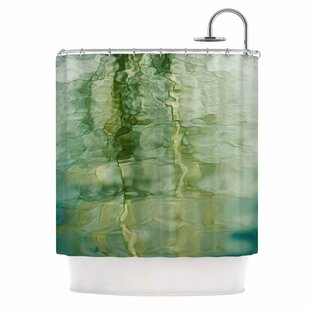 Fluidity Series 3 by Malia Shields Abstract Single Shower Curtain