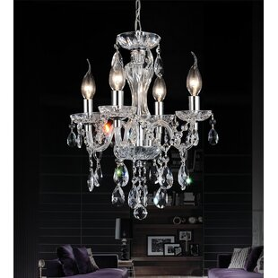 CWI Lighting 4-Light Candle Style Chandel..