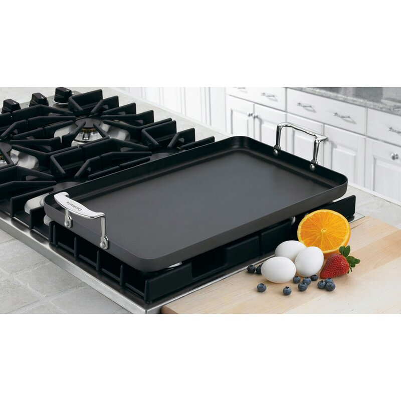 Chef S Clic Nonstick Hard Anodized 21 Double Burner Griddle