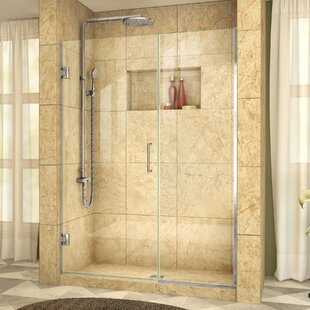 Unidoor Plus 60 x 72 Hinged Frameless Shower Door with Clearmax? Technology by DreamLine