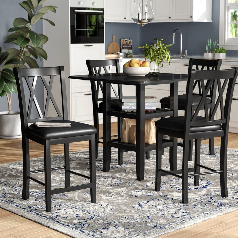 White Cane Outdoor Furniture, Gracie Oaks Wanette 5 Piece Counter Height Dining Set Reviews Wayfair