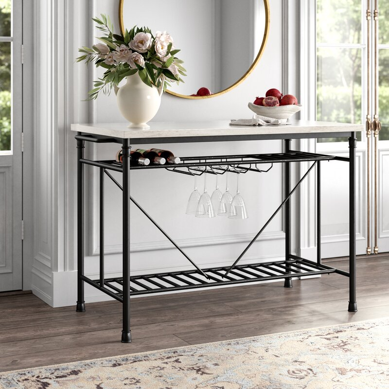 Moran Kitchen Island with Marble Top