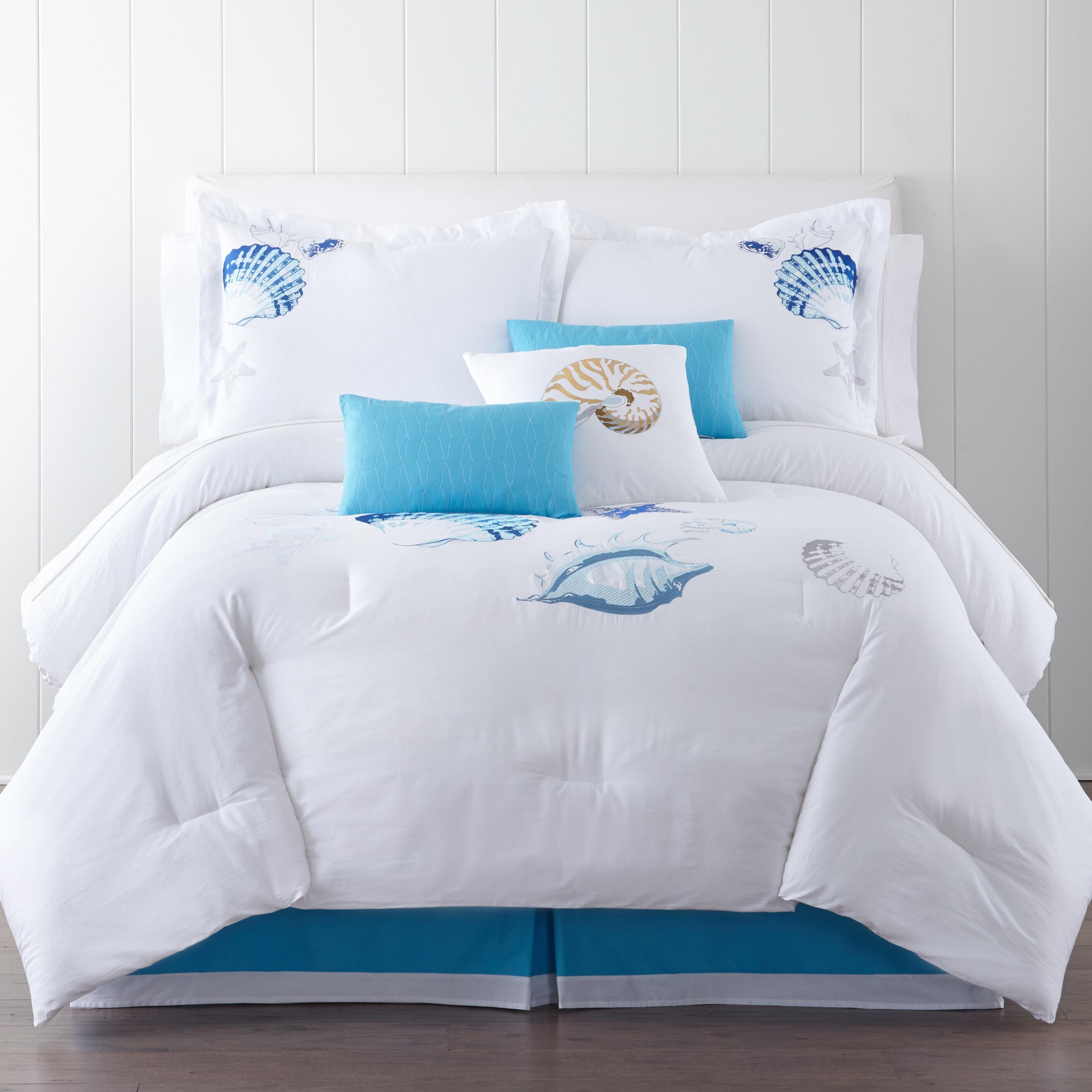set ocean b waves comforter print twin