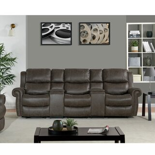 3 Seat Rolled Arm Wall Hugger Recliner Sofa by Canora Grey SKU:ED945867 Price Compare