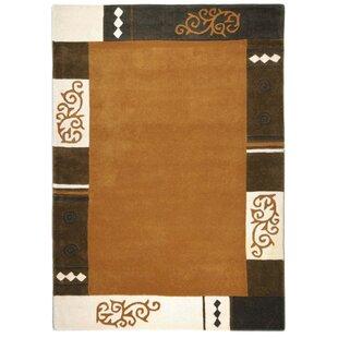 Ambadi Hand Tufted Wool Brown Rug by Theko