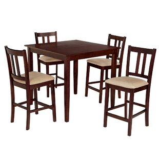 Atterberry 5 Piece Solid Wood Dining Set