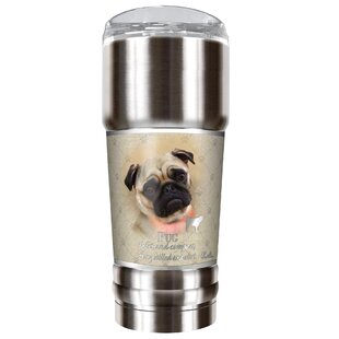 Howard Robinson's Pug 32 oz. Stainless Steel Travel Tumbler
