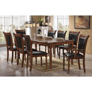 Nadine Traditional 9 Piece Dining Set Canora Grey
