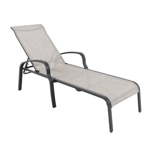 Atmore Stacking Sling Reclining Chaise Lounge