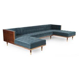 Corrigan Studio Carey Box Sofa U-Shaped Modular Sectional