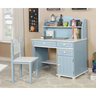 Marano 42 W Writing Desk with Hutch and Chair Set by Andrew Home Studio