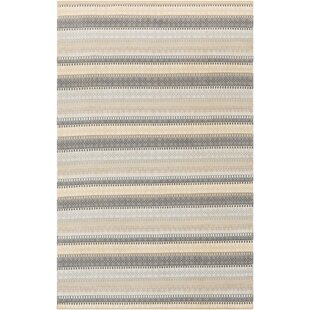 Bybrook Striped Handwoven Flatweave Light Gray Indoor/Outdoor Area Rug