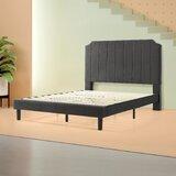 Hoyos Upholstered Low Profile Platform Bed by Brayden Studio®