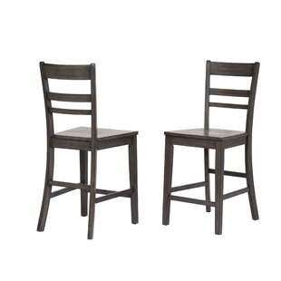 Middlebury Slat Back 24 Bar Stool (Set of 2) Red Barrel Studio