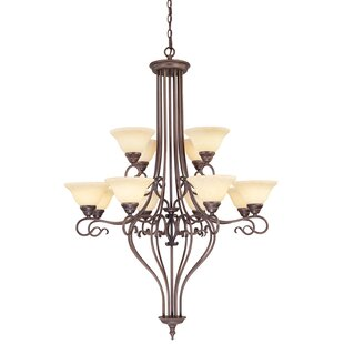 Darby Home Co Lewisboro 12-Light Shaded Chandelier