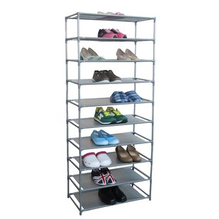 Comparison 30-Pair Non Woven 10-Tier Shoe Rack By Home Basics