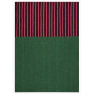 Look for Nashville Modern Hand-Woven Green/Magenta/Black Area Rug ByCalvin Klein