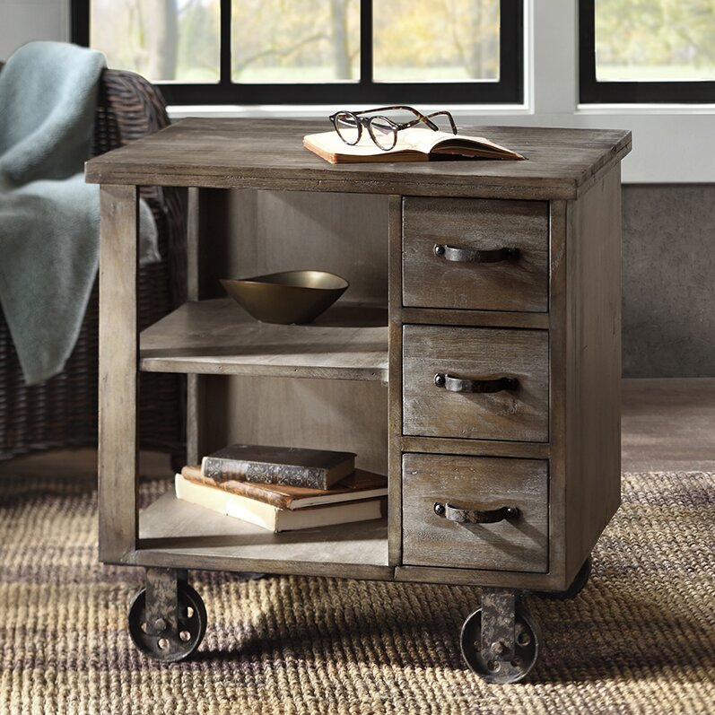 Laurel Foundry Modern Farmhouse Remy End Table With Storage Reviews Wayfair