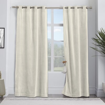 Darby Home Co Balone Solid Max Blackout Thermal Pinch Pleat Single ...
