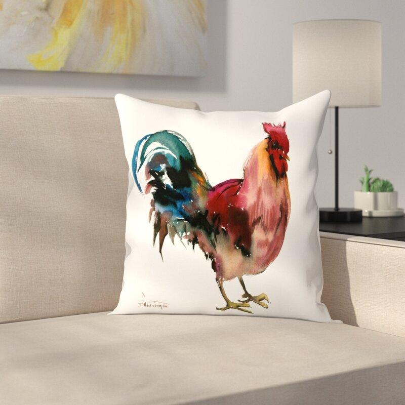 East Urban Home Rooster Throw Pillow Wayfair