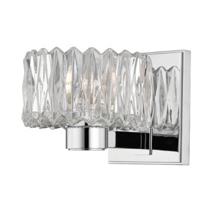 Lexia 1-Light Bath Sconce by Rosdorf Park